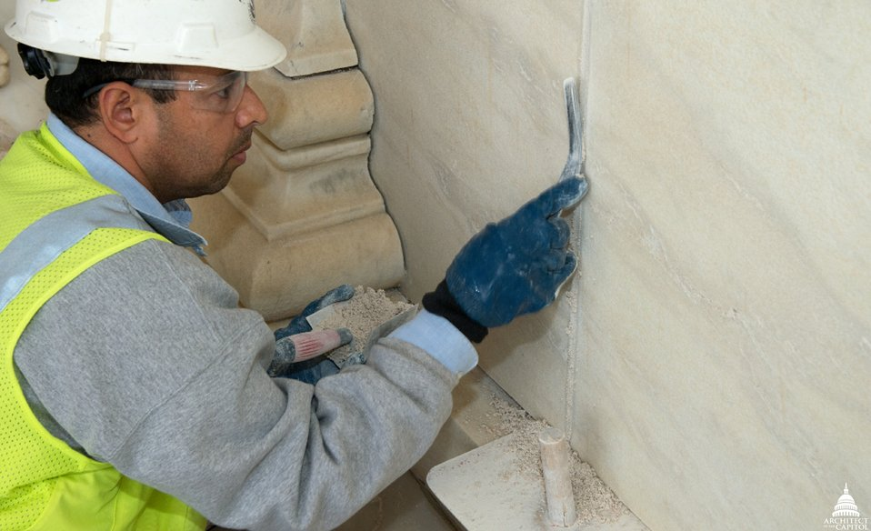 Repairing Mortar and Sealants of Supreme Court Facade