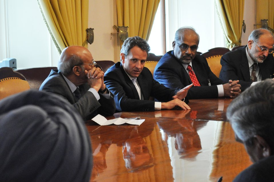 Secretary Geithner meeting with Indian delegation of the U.S.-India Aspen Strategy Group, 8/3/2010
