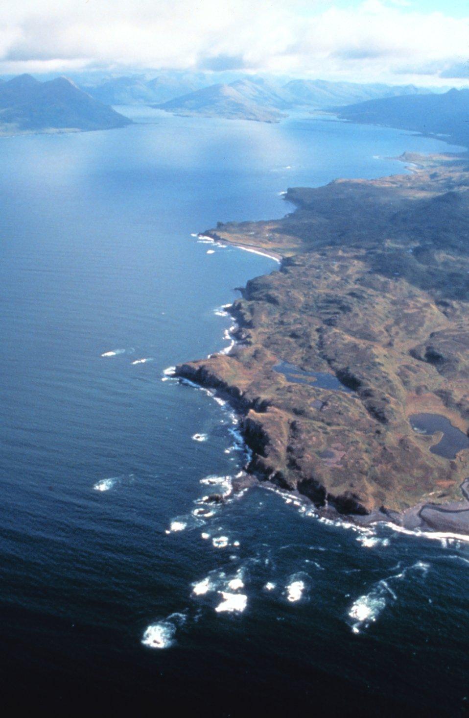 Rugged coastline of Prince William Sound area