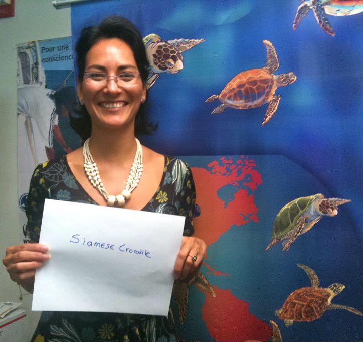 Veronica Caceres, 'Siamese Crocodile,' Credit: USFWS