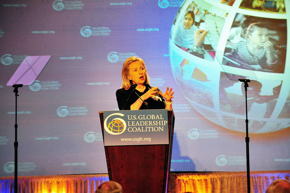 Secretary Clinton Delivers Remarks to the 2011 U.S. Global Leadership Coalition Conference
