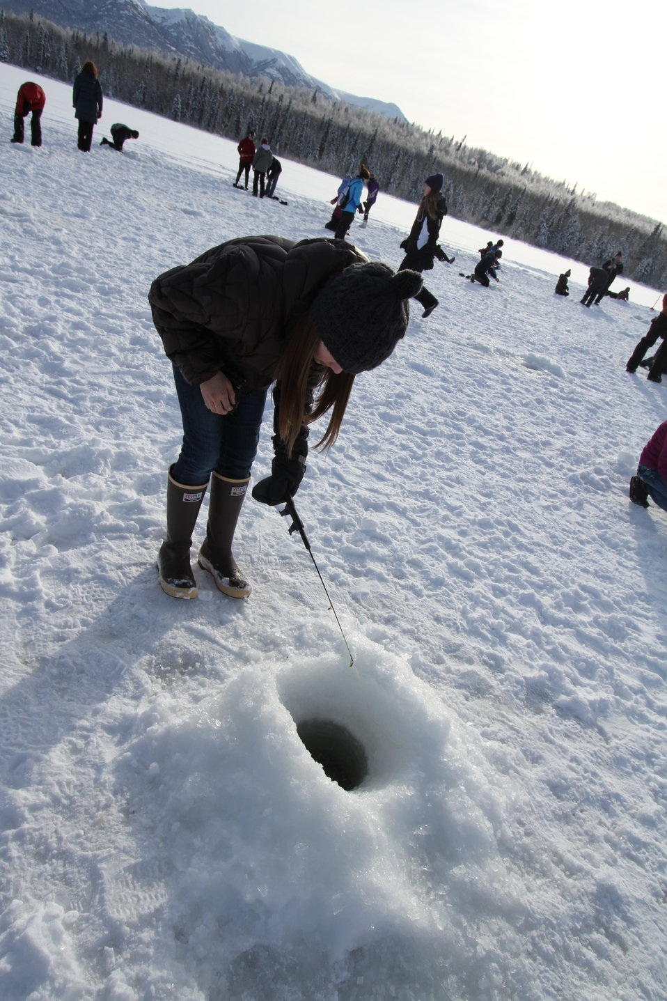 Connecting kids to fish via ice fishing!