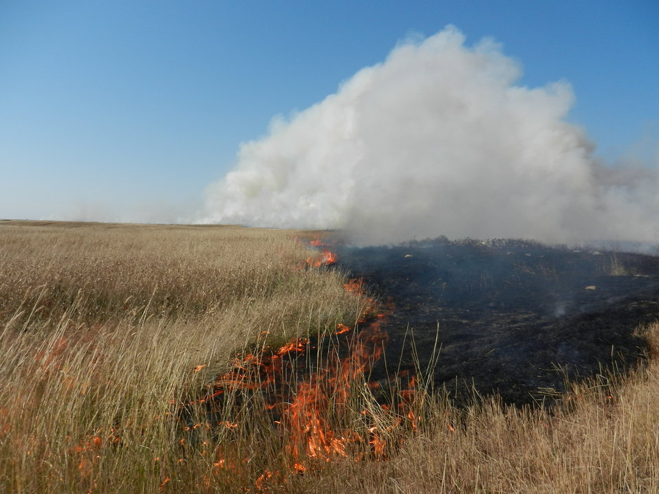 Fall Prescribed Burning on Des Lacs Refuge