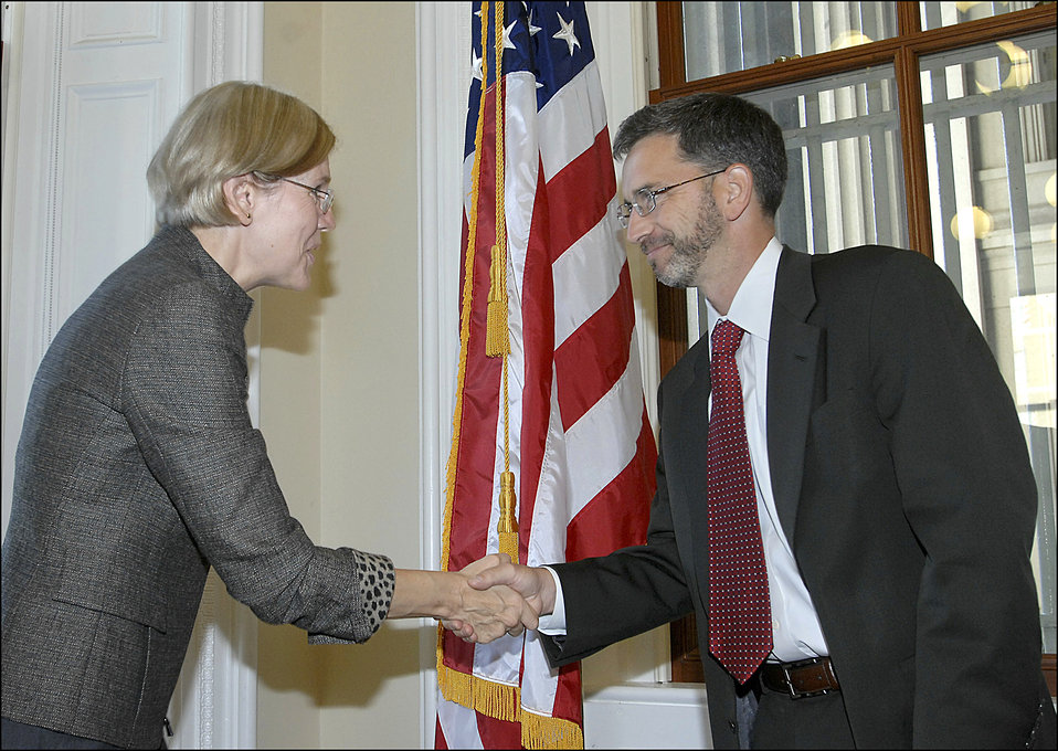 Elizabeth Warren being sworn in, 09/17/10