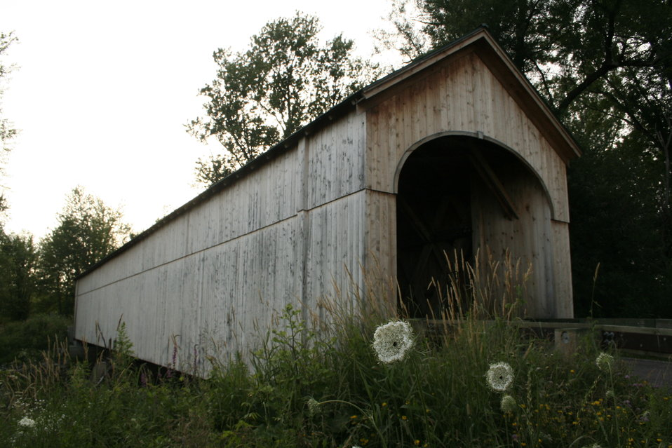 Covered bridge bat site in Vermont