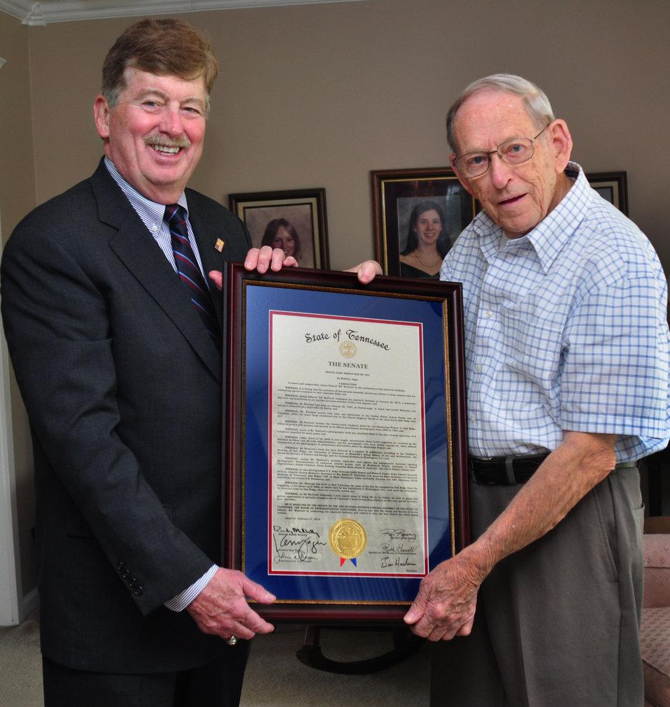 Senator Randy McNally and Ed Westcott AEC photographer