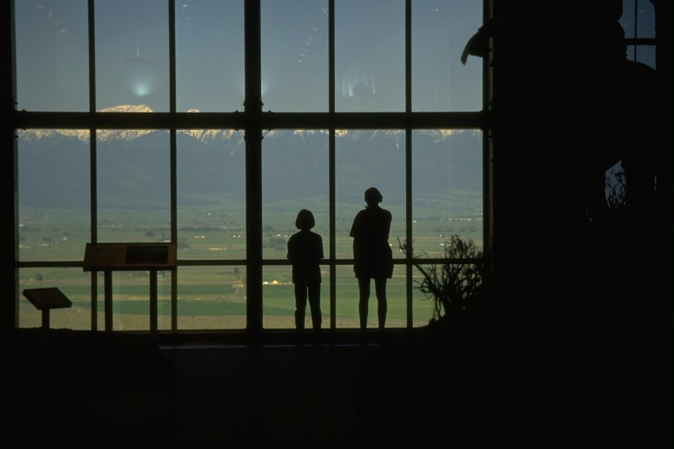 Visitors of the NHOTIC at viewing window.