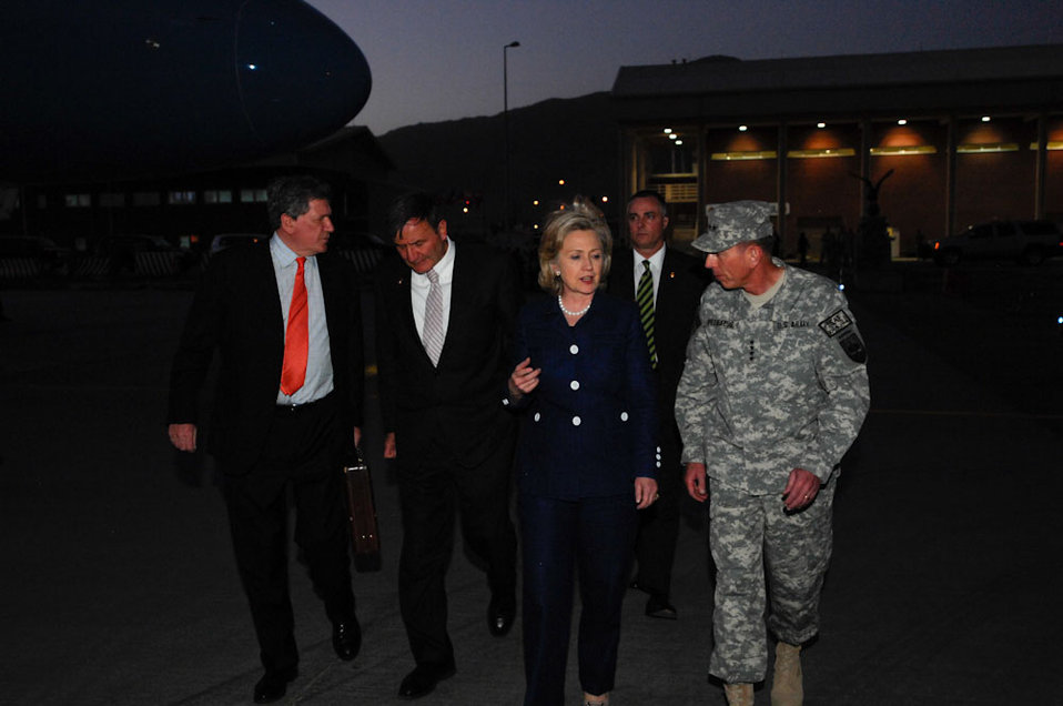 Special Representative Holbrooke, Ambassador Eikenberry, Secretary Clinton, and General Petraeus Speak