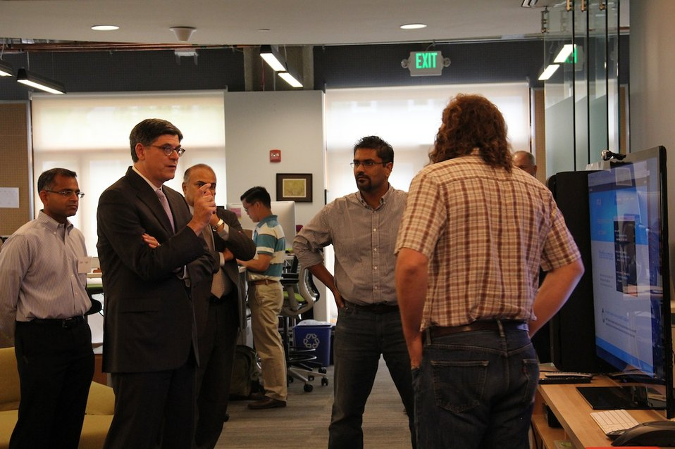 Secretary Lew visits innovation center
