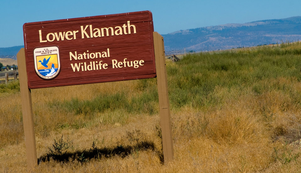 Lower Klamath NWR sign