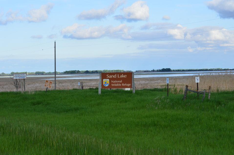 Sand Lake NWR sign