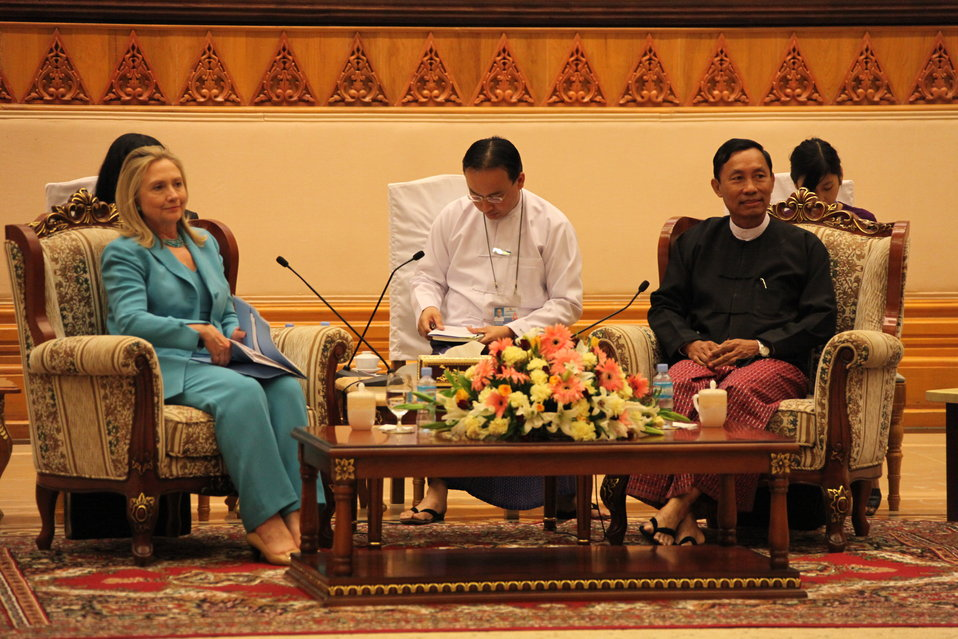 Secretary Clinton Meets With Speaker of the Lower House of Parliament U Shwe Mann
