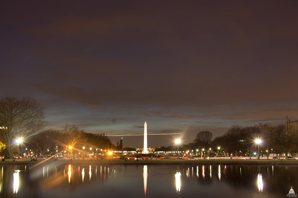 Looking out at the National Mall from Capitol Reflecting Pool