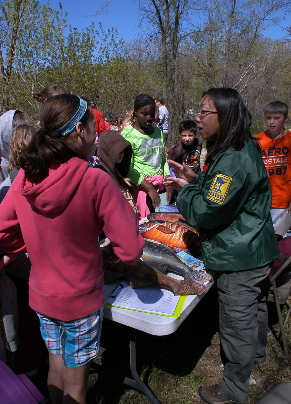 Environmental Interpreter, Krista Jensen, from the MN DNR taught Fish Identification