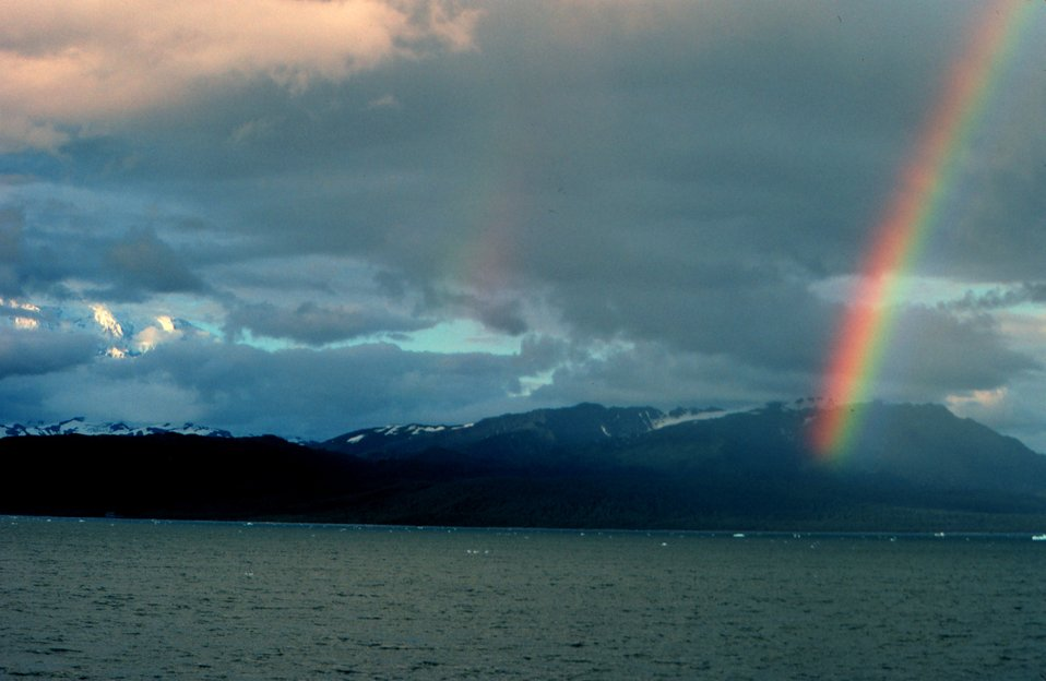A rainbow somewhere along the Alaska Peninsula.