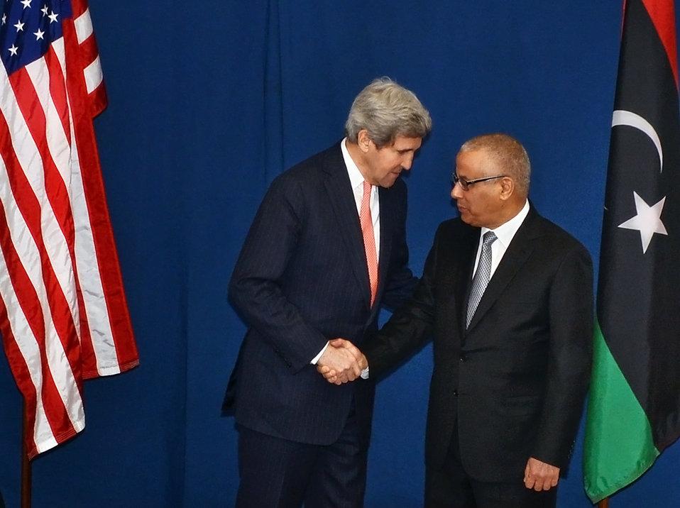 Secretary Kerry Meets With Libyan Prime Minister Zeidan