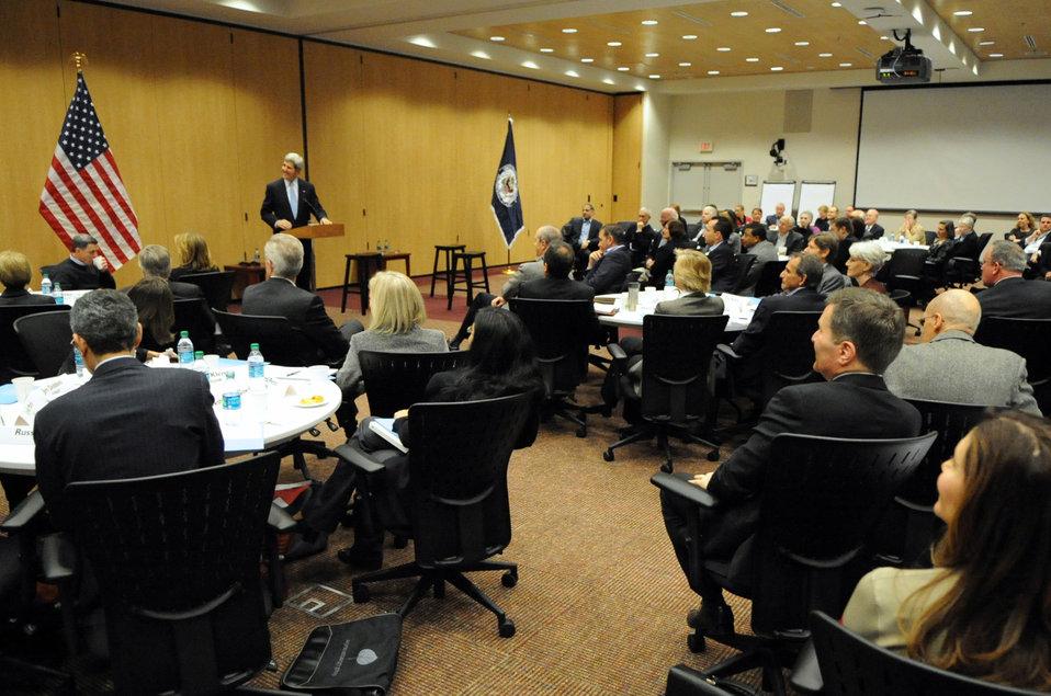 Secretary Kerry Addresses Senior Managers at Daylong Staff Retreat