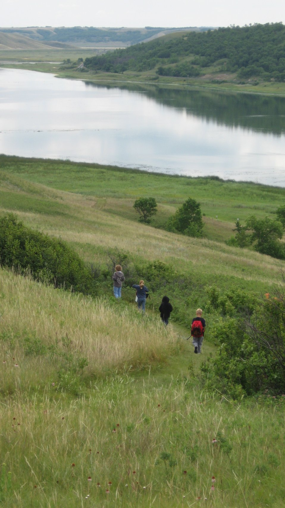 Hiking in Des Lacs National Wildlife Refuge