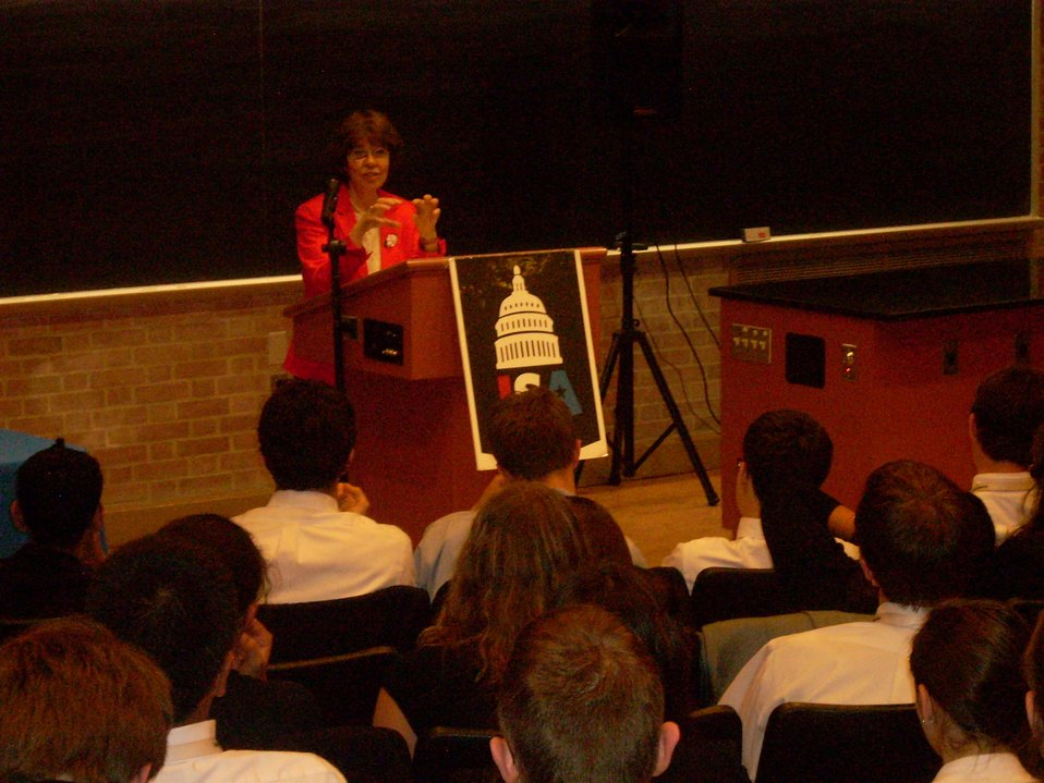 Press Office Coleman Speaks With High School Students