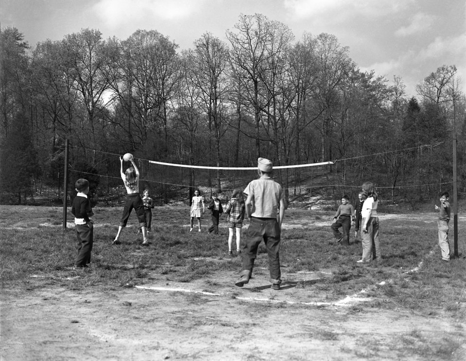 Volleyball Game Oak Ridge 1947