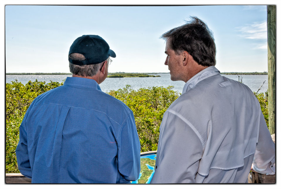 Secretary Salazar and Director Dan Ashe view Pelican Island