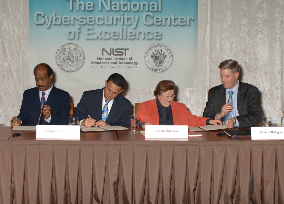 National Cybersecurity Center of Excellence MOU Signing