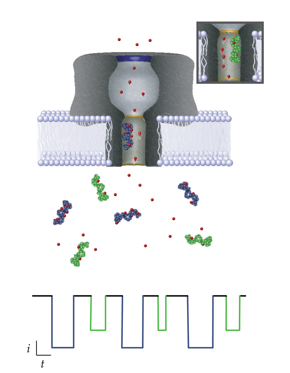 Nanopore-based single molecule mass spectrometry