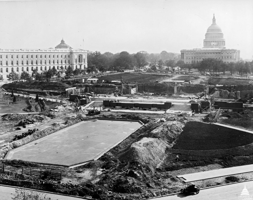 Senate Park Under Construction c. 1931