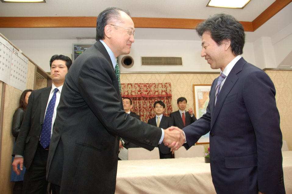 Dr. Jim Yong Kim Meeting with Japanese Finance Minister Jun Azumi
