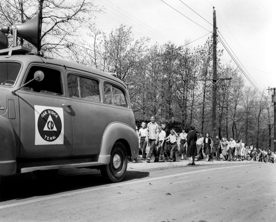 Civil Defense Air Raid Drill Oak Ridge 1953