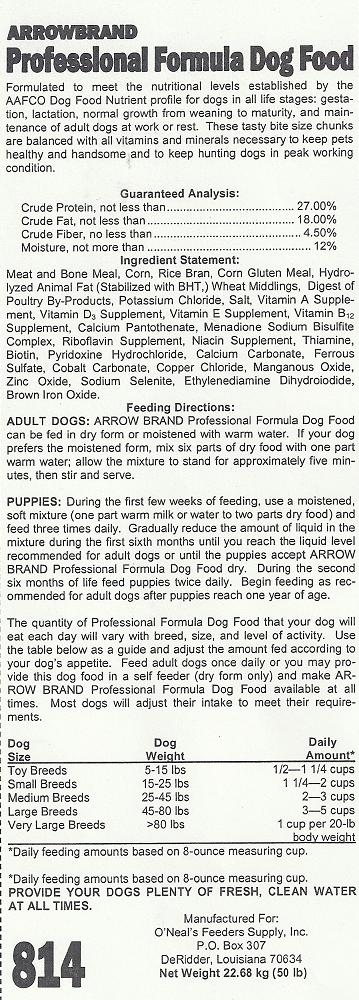 RECALLED - Dry dog food