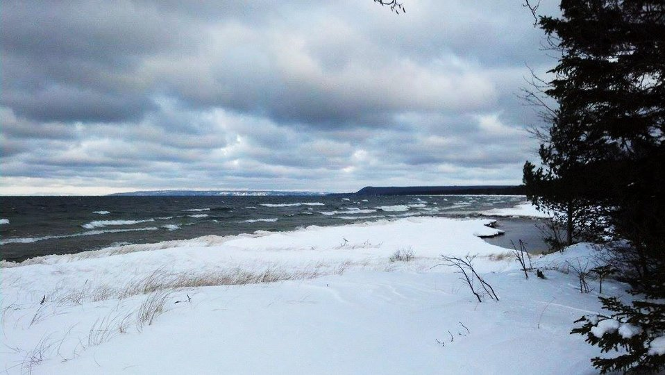 Winter at the mouth of the creek