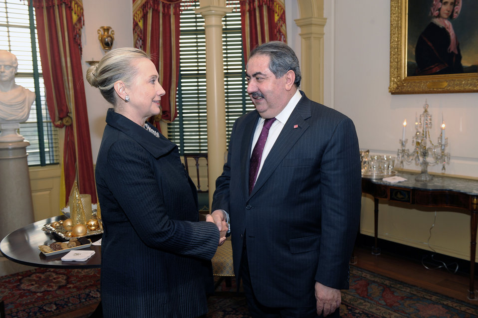 Secretary Clinton Meets With Iraqi Foreign Minister Zebari