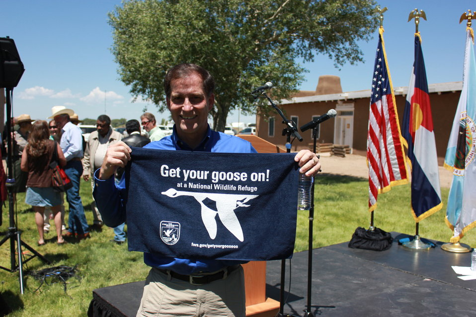 Dan Ashe, Director of the U.S. Fish and Widllife Service, Get his Goose On!