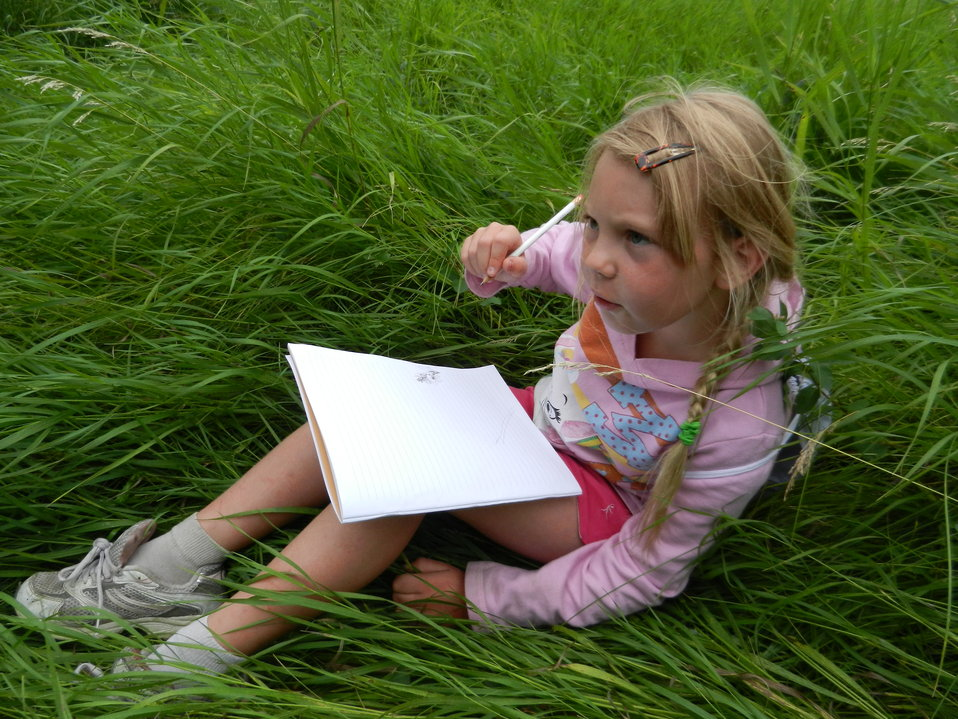 Young Girl Journaling