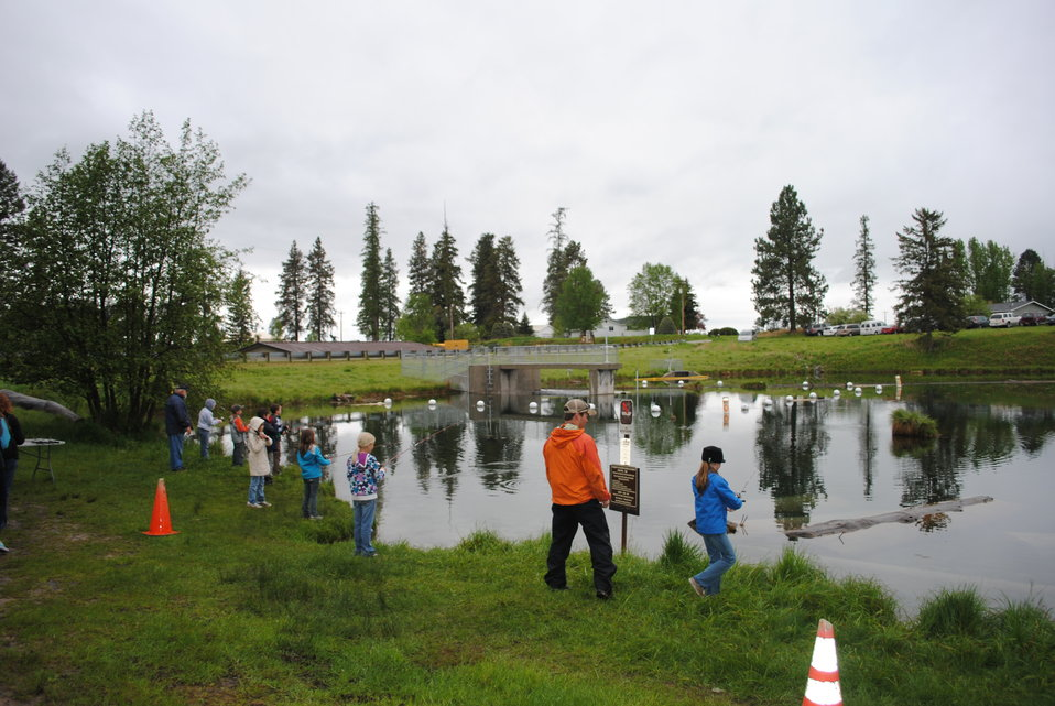 Casting at the Creston National Fish Hatchery