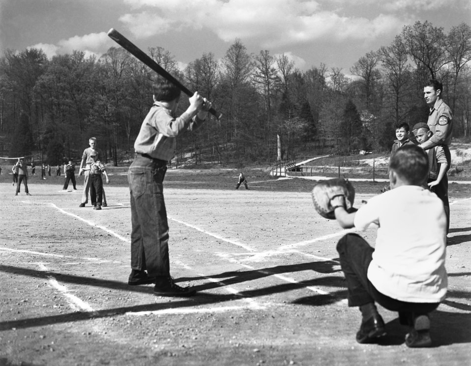 Baseball Game on Play Ground for Recreation Welfare Oak Ridge 1947