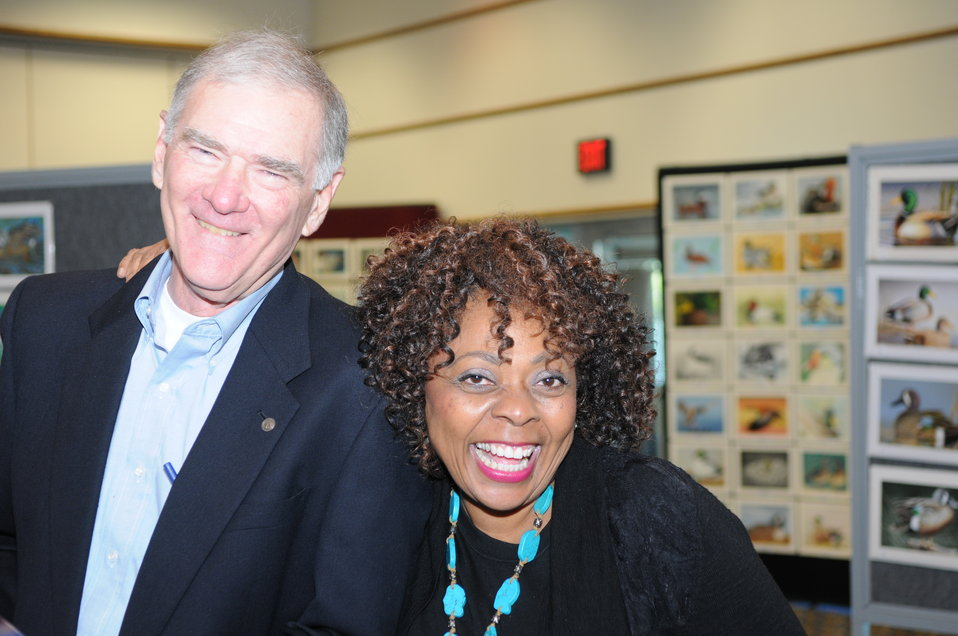 John Cornely and Mamie Parker, two contest judges excited for the final day of judging.