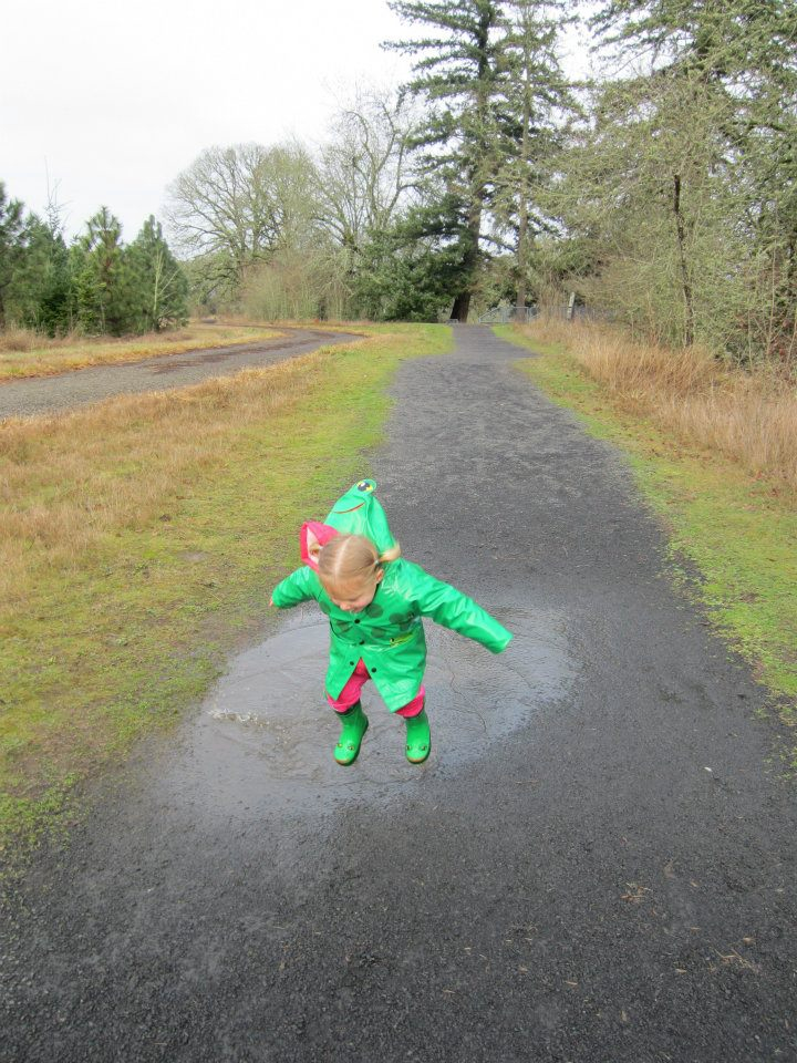 young puddle stomper