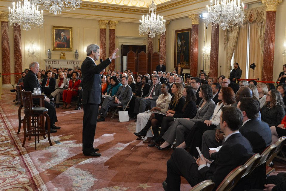 Secretary Kerry Holds a Conversation With State Department Employees