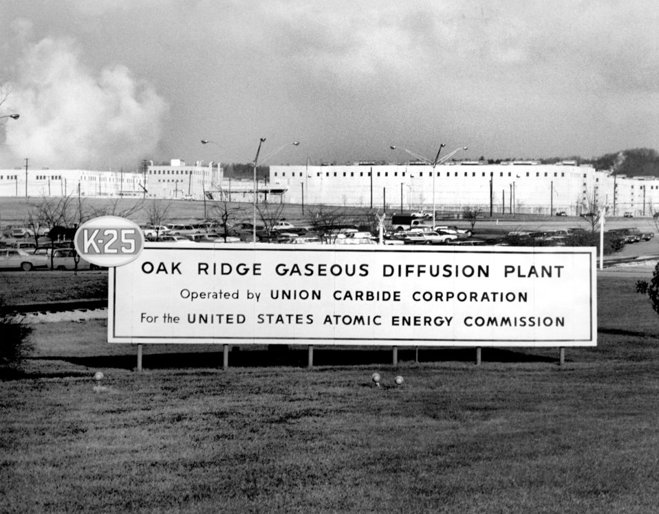 Sign Entrance K-25 Plant Oak Ridge 1971