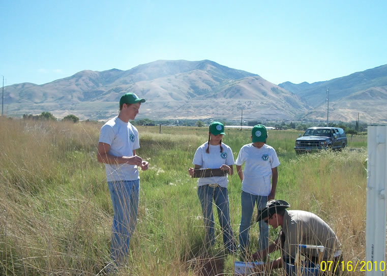 Youth Conservation Corps Crew Collect Data