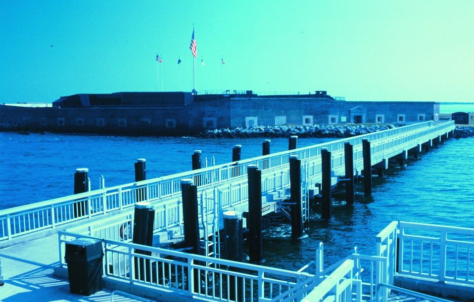 A view of Fort Sumter, where the first shots of the Civil War were fired.