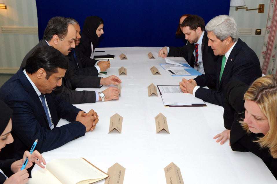 Secretary Kerry Meets With Qatari Foreign Minister al-Attiyah