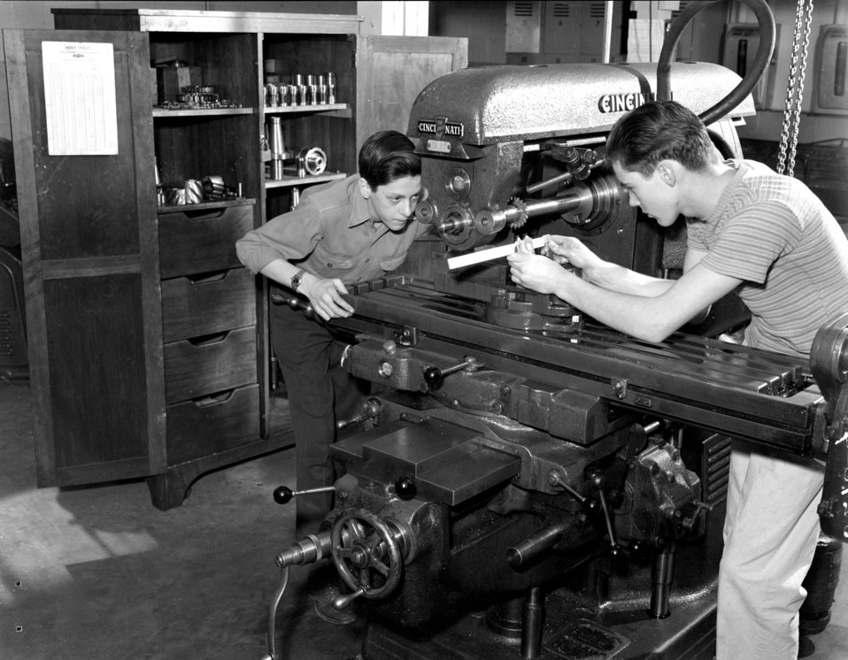 Shop Class Oak Ridge High School 1947