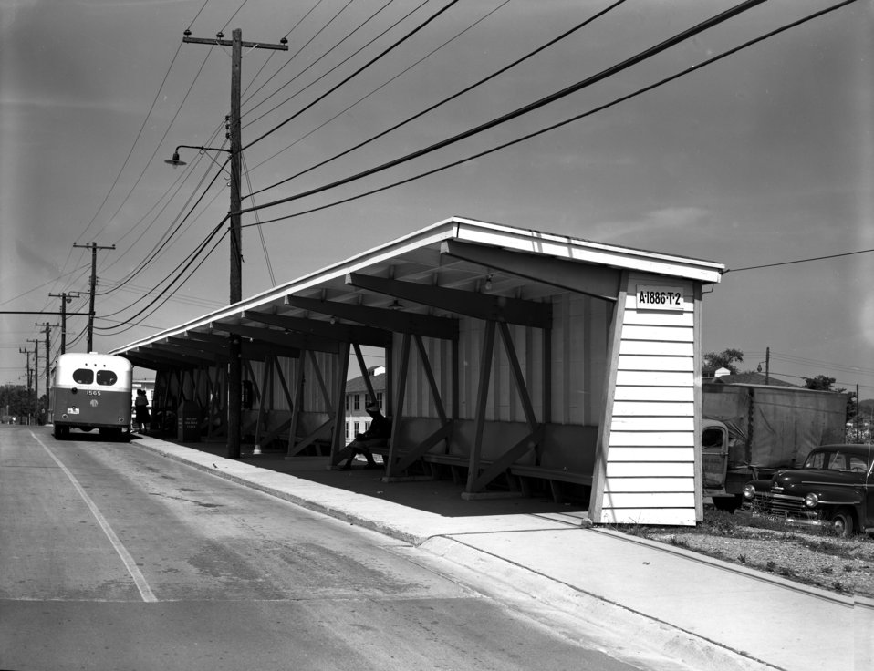 Bus Stop Jackson Square Oak Ridge 1949