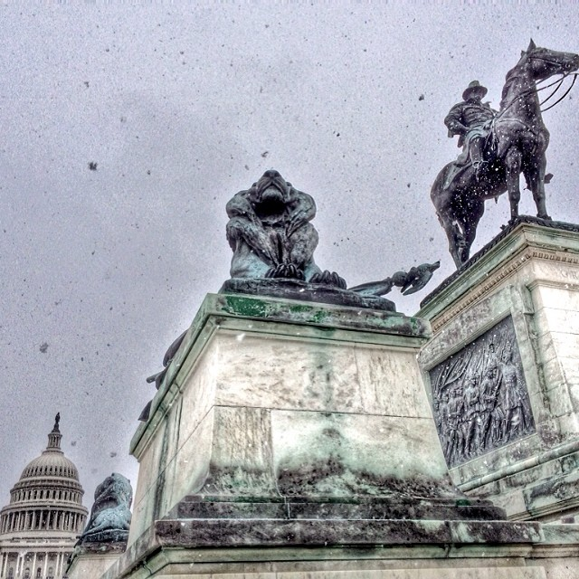 Snow in #DC - again.