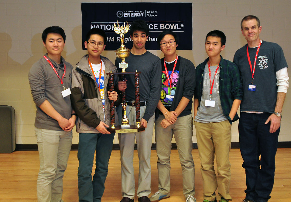 2nd place Farragut HS 2014 TN DOE Science Bowl