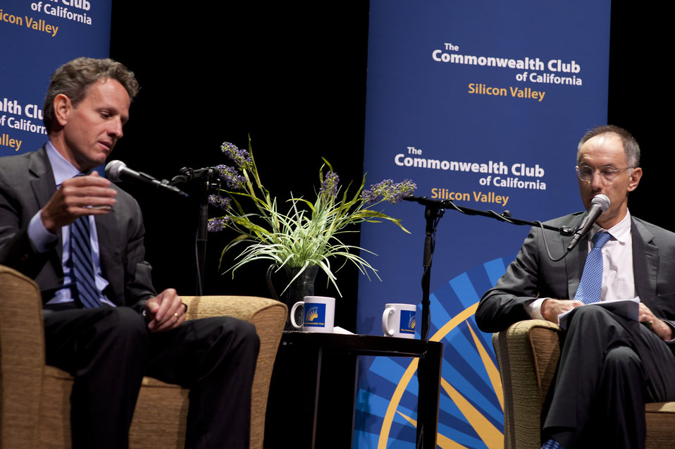 'A Conversation with Secretary Tim Geithner' hosted by the Commonwealth Club, 10/18/10
