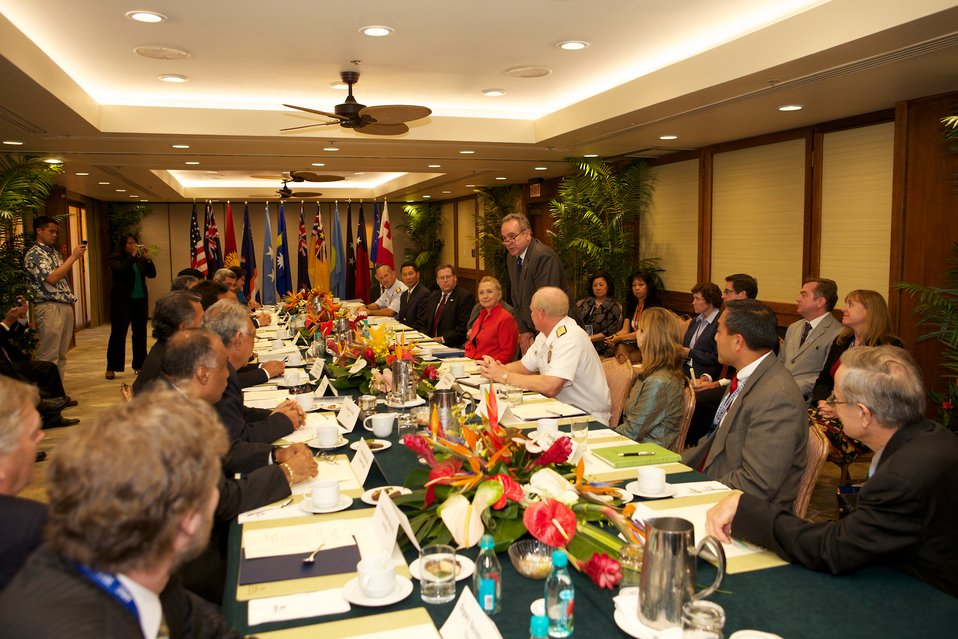 Secretary Clinton Meets With Pacific Island Leaders